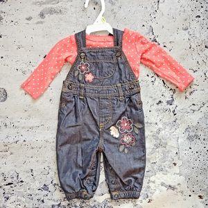 """Carter""""s. Infant Embroidered Denim Overalls"""
